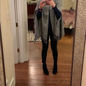 Madewell plaid cape/ shawl/ scarf